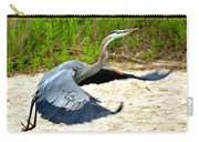 Inflight Great Blue Heron Carry-all Pouch