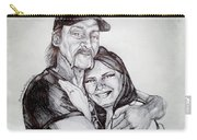 Ink Portrait Of My Father And I Carry-all Pouch