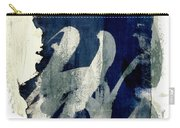 Inked Painted And Torn Carry-all Pouch by Carol Leigh