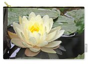 Inner Glow - White Water Lily Carry-all Pouch
