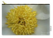 Inner Section Of A White Peony Carry-all Pouch