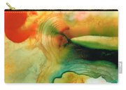 Inner Strength - Abstract Painting By Sharon Cummings Carry-all Pouch by Sharon Cummings