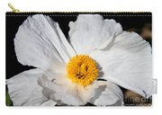 Innocent Krinkle - White Peony By Diana Sainz Carry-all Pouch