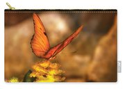 Insect - Butterfly - Just A Bit Of Orange  Carry-all Pouch