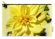 Insect On A Dahlia Carry-all Pouch