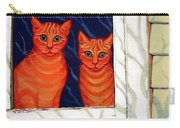 Orange Cats Looking Out Window Carry-all Pouch