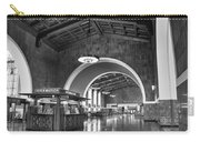 Inside Los Angeles Union Station In Black And White Carry-all Pouch