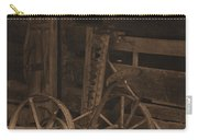 Inside The Barn In Sepia Carry-all Pouch