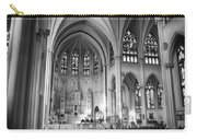 Inside The Cathedral Basilica Of The Immaculate Conception 1 Bw Carry-all Pouch