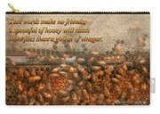 Inspiration - Apiary - Bee's - Sweet Success - Ben Franklin Carry-all Pouch by Mike Savad