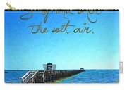 Inspirational Beach - Stop And Smell The Salt Air Carry-all Pouch