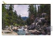 Inspirational Bible Scripture Emerald Flowing River Fine Art Original Photography Carry-all Pouch