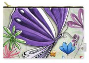Inspirational Butterfly Flower Art Inspiring Quote Design By Megan Duncanson Carry-all Pouch