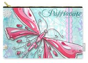 Inspirational Dragonfly Floral Art Inspiring Art Quote Be Passionate By Megan Duncanson Carry-all Pouch