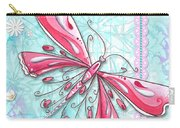 Inspirational Dragonfly Floral Fleur De Lis Art Sweet Charity By Megan Duncanson Carry-all Pouch