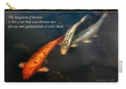 Inspirational - Gathering Fish Of Every Kind - Matthew 13-47 Carry-all Pouch by Mike Savad