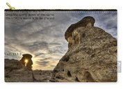 Inspirational Hoodoo Badlands Alberta Canada Carry-all Pouch