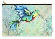 Inspirational Hummingbird Floral Flower Art Painting Dream Quote By Megan Duncanson Carry-all Pouch