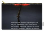 Inspirational - Reflection - Confucius Carry-all Pouch by Mike Savad