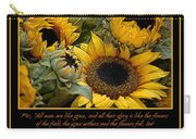 Inspirational Sunflowers Carry-all Pouch