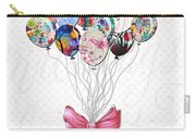 Inspirational Uplifting Floral Balloon Art A Bouquet Of Balloons Just For You By Megan Duncanson Carry-all Pouch