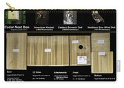 Instructions Cedar Nest Box For Kestrel And Owl Carry-all Pouch