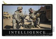Intelligence Inspirational Quote Carry-all Pouch