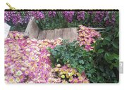 Interior Decorations Butterfly Gardens Vegas Golden Yellow Purple Flowers Carry-all Pouch