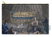 Interior Of A Kalmuk Yurt, 1812-13 Carry-all Pouch
