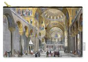 Interior Of San Marco Basilica, Looking Carry-all Pouch by Italian School