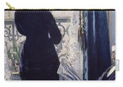 Interior Woman At The Window Carry-all Pouch by Gustave Caillebotte