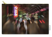 International Cafe Neon Sign And Street Scene At Night Santa Monica Ca Landscape Carry-all Pouch