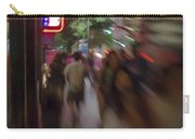 International Cafe Neon Sign And Street Scene At Night Santa Monica Ca Portrait Carry-all Pouch