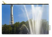 International Fountain And Space Needle Carry-all Pouch