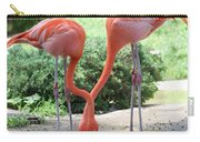 Intertwined Flamingoes Carry-all Pouch