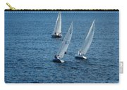 Into The Wind - Crisp White Sails On Blue Carry-all Pouch