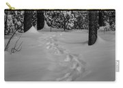 Into The Woods Pisgah Forest Black And White Carry-all Pouch