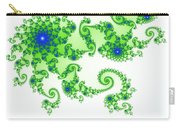 Intricate Green Blue Fractal Based On Julia Set Carry-all Pouch