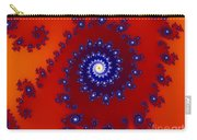 Intricate Red Blue Fractal Based On Julia Set Carry-all Pouch