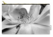 Intrigue Rose In Black And White Carry-all Pouch