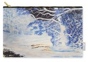 Inverted Lights At Trawscoed Aberystwyth Welsh Landscape Abstract Art Carry-all Pouch
