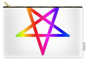 Inverted Rainbow Pentagram Carry-all Pouch