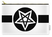 Inverted Wicca Military Symbol Carry-all Pouch