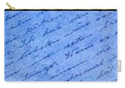 Iphone Case Blue Handwriging Carry-all Pouch