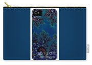 Iphone Case  Midnight Blue Frost Crystals Fractal Carry-all Pouch