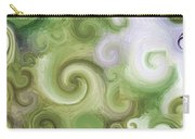 Iphone Green Swirl Abstract Carry-all Pouch