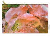 Iphone Pink Rose Digital Paint Carry-all Pouch