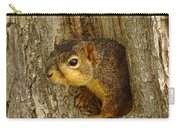 iPhone Squirrel In A Hole Carry-all Pouch