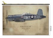 Ira Kepford F4u Corsair - Map Background Carry-all Pouch