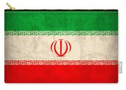 Iran Flag Vintage Distressed Finish Carry-all Pouch